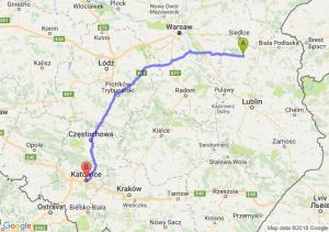 Trasa Łuków - Katowice