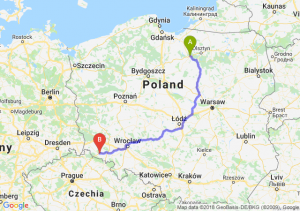 Trasa Ostróda - Jelenia Góra