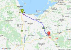 Trasa Gdańsk - Ostróda