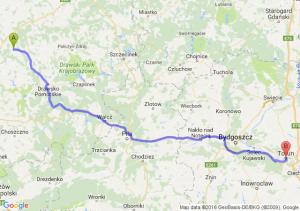 Resko (zachodniopomorskie) - Toruń (kujawsko-pomorskie)