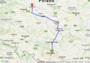 Trasa Sosnowiec - Gniezno
