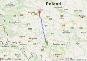 Trasa Bierdzany - Września