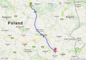Trasa Ostróda - Puławy