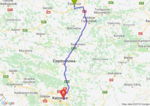Trasa Pabianice - Sosnowiec