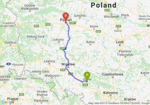 Trasa Opole - Poznań