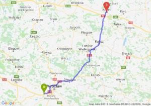 Trasa Kąty Wrocławskie - Konin