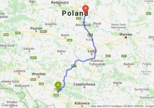 Trasa Opole - Lipno