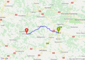 Trasa Kielce - Włoszczowa