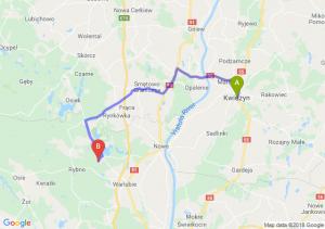 Trasa Kwidzyn - Warlubie