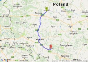 Trasa Gniezno - Opole