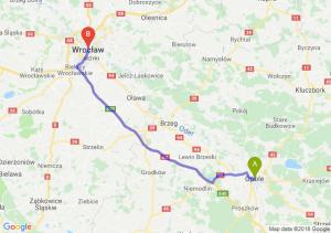 Trasa Opole - Wrocław