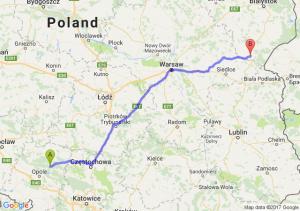 Trasa Bierdzany - Siemiatycze