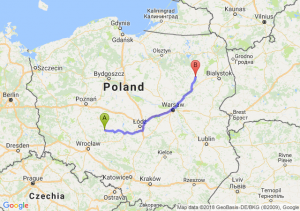 Trasa Ostrów Wielkopolski - Łomża