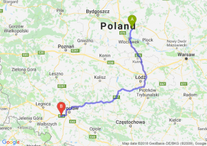 Trasa Lipno - Kąty Wrocławskie