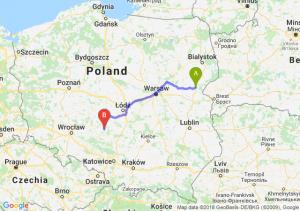 Trasa Siemiatycze - Wieluń
