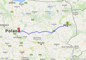 Trasa Białystok - Lipno