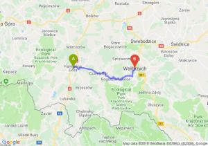 Trasa Kamienna Góra - Wałbrzych