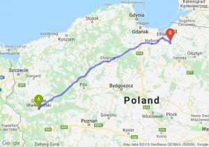 Trasa Gorzów Wielkopolski - Pasłęk