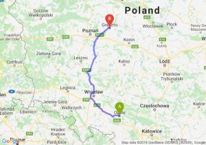 Trasa Opole - Gniezno