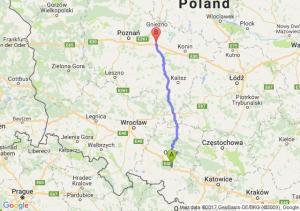 Trasa Dąbrówka Górna - Września