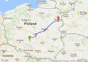 Trasa Wieluń - Białystok