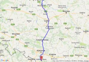 Trasa Lipno - Bielsko-Biała