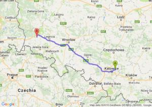 Trasa Dąbrowa Górnicza - Bolesławiec