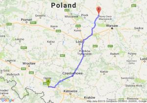 Trasa Krapkowice - Płońsk