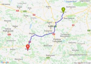 Trasa Łowicz - Wieluń