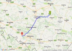 Trasa Białobrzegi - Kędzierzyn-Koźle