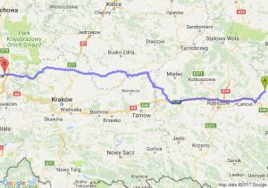 Trasa Sieniawa - Dąbrowa Górnicza