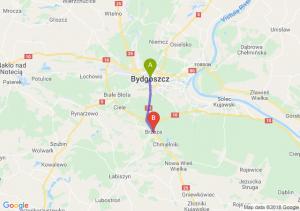 Trasa Bydgoszcz - Brzoza (koło Bydgoszczy)
