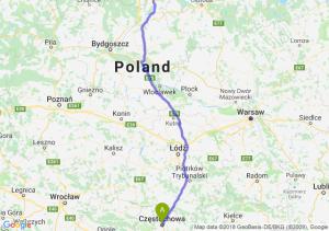 Trasa Częstochowa - Kwidzyn