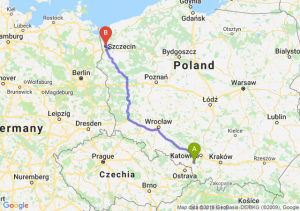 Trasa Żory - Szczecin