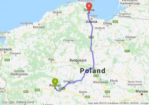 Trasa Poznań - Gdynia