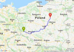 Trasa Bolesławiec - Ciechanów