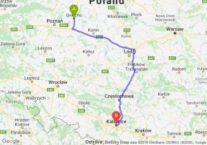 Trasa Gniezno - Katowice