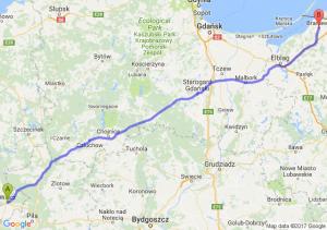 Wałcz - Braniewo
