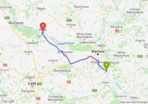Trasa Góra Kalwaria - Płock