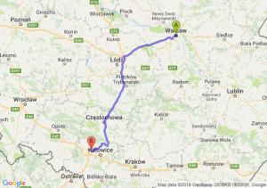 Trasa Warszawa - Zabrze