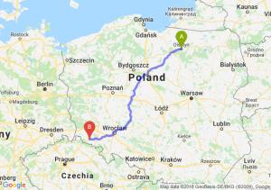 Trasa Olsztyn - Jelenia Góra