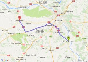 Trasa Góra Kalwaria - Sochaczew