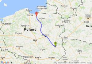 Trasa Lublin - Pasłęk