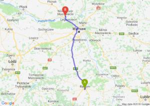 Trasa Radom - Nowy Dwór Mazowiecki