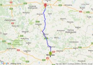 Wrocław (dolnośląskie) - Mosina (wielkopolskie)