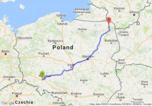 Trasa Kąty Wrocławskie - Suwałki