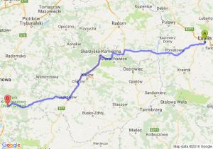 Lublin (lubelskie) - Myszków (śląskie)