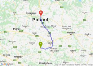 Trasa Sieradz - Lubicz Dolny