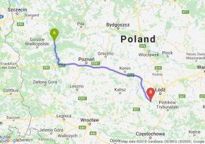 Trasa Drezdenko - Łask