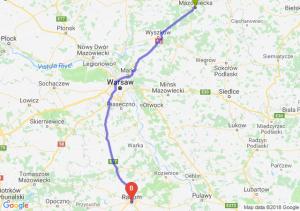 Trasa Ostrów Mazowiecka - Radom